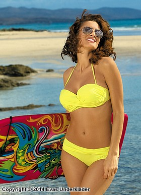 Bikini-set med tvinnad topp